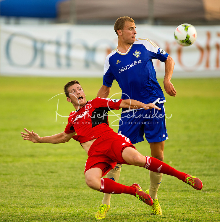 ``Sports photography of the the Charlotte Independence, an American soccer team based in Charlotte, North Carolina. The Charlotte Independence were founded in 2014. The team play their home games at Ramblewood Soccer Complex.<br /> <br /> Charlotte Photographer - PatrickSchneiderPhoto.com