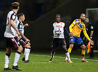 Bolton Wanderers' Liam Gordon (centre) controls the ball <br /> <br /> Photographer Andrew Kearns/CameraSport<br /> <br /> The EFL Sky Bet League Two - Bolton Wanderers v Mansfield Town - Tuesday 3rd November 2020 - University of Bolton Stadium - Bolton<br /> <br /> World Copyright © 2020 CameraSport. All rights reserved. 43 Linden Ave. Countesthorpe. Leicester. England. LE8 5PG - Tel: +44 (0) 116 277 4147 - admin@camerasport.com - www.camerasport.com