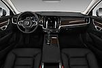 Stock photo of straight dashboard view of a 2018 Volvo S90 Momentum 4 Door Sedan