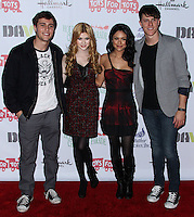 HOLLYWOOD, CA - DECEMBER 01: Cameron Moulene, Katherine McNamara, Bianca Santos, Shane Harper arriving at the 82nd Annual Hollywood Christmas Parade held at Hollywood Boulevard on December 1, 2013 in Hollywood, California. (Photo by Xavier Collin/Celebrity Monitor)
