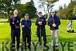 John O'Shea, Mick Leahy, Joe Scally and Teddy Bowler playing in the Kerry GAA golf classic in O'Mahony's Point on Friday