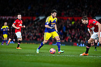 Sunday 05 January 2014<br /> Pictured: Alejandro Pozuelo runs with the ball<br /> Re: Manchester Utd FC v Swansea City FA cup third round match at Old Trafford, Manchester