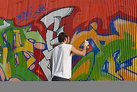 """- for the first time the young """"writers"""" have been able to realize graffiti without fear of the Public Force: for initiative of the Triennial foundation they have had on hand 200 meters of underpass in Bovisa area in order to realize their paintings: the initiative has recalled writers from all Europe ....- per la prima volta i giovani """"writers"""" hanno potuto realizzare graffiti senza paura della Forza Pubblica: per iniziativa della fondazione Triennale hanno avuto a disposizione 200 metri di sottopassaggio in zona Bovisa per realizzare i loro dipinti: l'iniziativa ha richiamato writers da tutta l'Europa"""