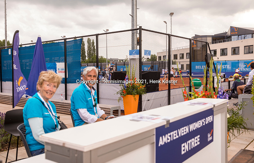 Amstelveen, Netherlands, 7 Juli, 2021, National Tennis Center, NTC, Amstelveen Womans Open, Entree<br /> Photo: Henk Koster/tennisimages.com