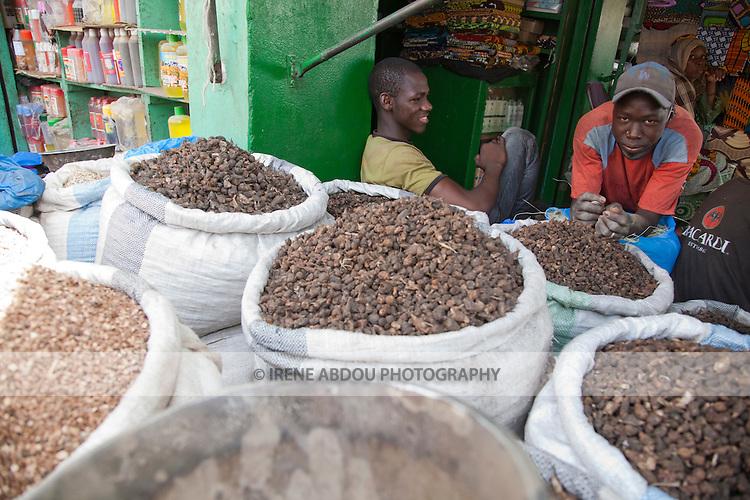 A man sells spices near the Grand Marche of Bamako, Mali.