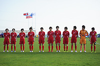 20190227 - LARNACA , CYPRUS : Kim Phyong-hwa (11) , Ri Hyang-sim (14) , Jon Un-gyong (24) , Jon So Yon (19) , Ri Un-yong (2) , Pak Sw Jong (3) , Ju Hyo Sim (6) , Wi Jong-sim (5) , Kim Yun-mi (12) , Kim Myong-sun (1) , Kim Nam-hui (15)  - Korea DPR team pictured during a women's soccer game between Korea DPR and Czech Republic , on Wednesday 27 February 2019 at the GSZ Stadium in Larnaca , Cyprus . This is the first game in group A for both teams during the Cyprus Womens Cup 2019 , a prestigious women soccer tournament as a preparation on the Uefa Women's Euro 2021 qualification duels and the Fifa World Cup France 2019. PHOTO SPORTPIX.BE | STIJN AUDOOREN
