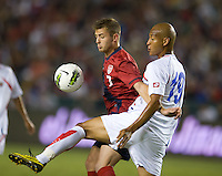 Carson, Ca-Friday Sept. 2, 2011: USA's Robbie Rogers battles for a ball during a 1-0 loss to Costa Rica at the Home Depot Center.