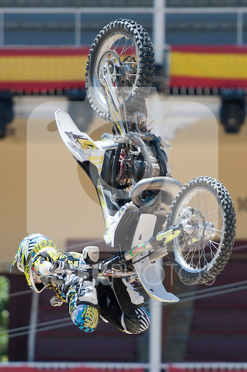 Training Red Bull X-Fighters 2012. Madrid. Rider in the picture Maikel Melero ESP. July 19, 2012. (ALTERPHOTOS/Ricky Blanco)