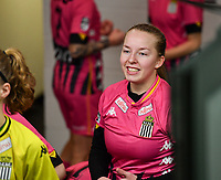 Megane Vos (20) of Sporting Charleroi pictured during a female soccer game between RSC Anderlecht Dames and Sporting Charleroi on the 13 th matchday of the 2020 - 2021 season of Belgian Womens Super League , friday 5 th of February 2021  in Tubize , Belgium . PHOTO SPORTPIX.BE | SPP | DAVID CATRY