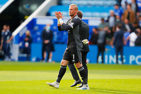 11th September 2021; King Power Stadium, Leicester, Leicestershire, England;  Premier League Football, Leicester City versus Manchester City; Kasper Schmeichel of Leicester City applauds the home supporters after the final whistle