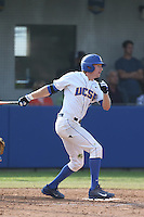Dalton Kelly (10) of the UC Santa Barbara Gauchos bats during a game against the Kentucky Wildcats at Caesar Uyesaka Stadium on March 20, 2015 in Santa Barbara, California. UC Santa Barbara defeated Kentucky, 10-3. (Larry Goren/Four Seam Images)