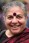 Vandana Shiva participated in the Peoples Climate March in New York City. More than 300,000 march in solidarity for Climate accountability, at the People's Climate March on September 21, 2014. (Credit: Robert van Waarden)