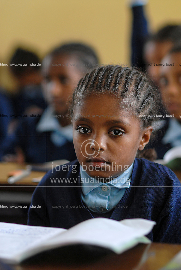 Ethiopia, Addis Ababa, children in school / Kinder in der Schule