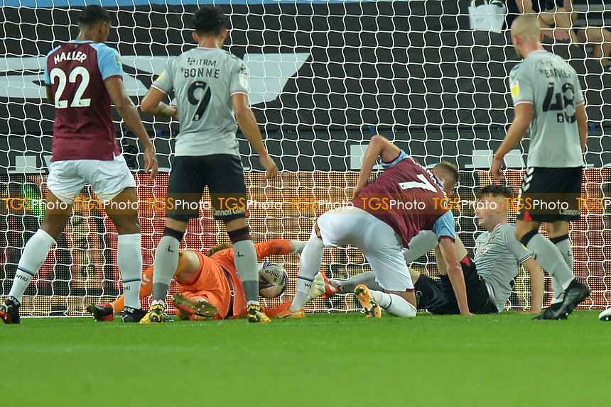 Andriy Yarmolenko of West Ham United goal is disaloud during West Ham United vs Charlton Athletic, Caraboa Cup Football at The London Stadium on 15th September 2020