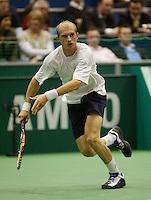 20-2-06, Netherlands, tennis, Rotterdam, ABNAMROWTT, Davydenko in action against Hernych