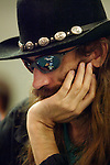 """September 1, 2003: Poker professional Chris Ferguson, also known as """"Jesus"""", at the World Poker Tour event at the Bicycle Club in Los Angeles."""