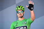 Green Jersey holder Peter Sagan (SVK) Bora-Hansgrohe at sign on before Stage 5 of the 2019 Tour de France running 175.5km from Saint-Die-des-Vosges to Colmar, France. 10th July 2019.<br /> Picture: ASO/Alex Broadway | Cyclefile<br /> All photos usage must carry mandatory copyright credit (© Cyclefile | ASO/Alex Broadway)