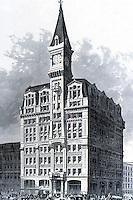 New York :  The Tribune Building, 1875.  Nassau & Spruce Streets.  Historic photo.  Photo '78.