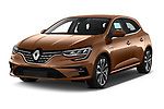2020 Renault Megane Edition-One 5 Door Hatchback Angular Front automotive stock photos of front three quarter view