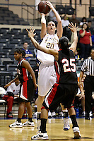 SAN ANTONIO, TX - JANUARY 24, 2009: The University of the Incarnate Word Cardinals vs. the St. Mary's University Rattlers Women's Basketball at Bill Greehey Arena. (Photo by Jeff Huehn)