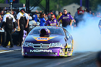 Apr. 27, 2012; Baytown, TX, USA: NHRA pro stock driver Vincent Nobile during qualifying for the Spring Nationals at Royal Purple Raceway. Mandatory Credit: Mark J. Rebilas-