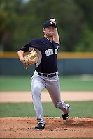 GCL Yankees pitcher Cameron Pongs (70) delivers a pitch during the second game of a doubleheader against the GCL Pirates on July 31, 2015 at the Pirate City in Bradenton, Florida.  The game was suspended after two innings due to rain.  (Mike Janes/Four Seam Images)