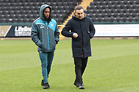 (L-R) Renato Sanches of Swansea City and Swansea manager Carlos Carvalhal during The Emirates FA Cup match between Notts County and Swansea City at Meadow Lane, Nottingham, England, UK. Saturday 27 January 2018