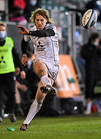 19th February 2021; Recreation Ground, Bath, Somerset, England; English Premiership Rugby, Bath versus Gloucester; Billy Twelvetrees of Gloucester is unable to convert the try
