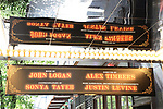 """Theatre Marquee for """"Moulin Rouge!"""" The Broadway Musical at the Al Hirschfeld Theatre on July 9, 2019 in New York City."""