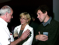 Montreal, 1999-08-29.Swedish actress and President of this year jury ; Bibi Andersson(middle) and Irish actor and jury menber ;  Stephen Rea (right) enjoying themselves at the party organised tonight (August 29) to celebrate Irish cinema presence at the World Film Festival. Irish cinema has the honor of beeing the subject of this year focus. More than 12  films from Ireland are presented.<br /> Photo : (c) Pierre Roussel, 1999<br /> KEYWORDS :  Bibi Andersson,  Stephen Rea, Celerities,World Film Festival, Montreal, Canada