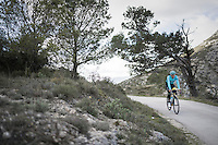 Andrey Zeits (KAZ/Astana) preparing for the 2017 season on the Coll de Rates (alt 626m/Alicante/Spain) in january