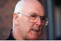 13th March 1997; Brads Hatch, Kent, England; MURRAY WALKER, commentator, portrait at Brands Hatch. Walker passed away at the age of 97 on 13th March 2021