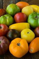 Organic heirloom tomatoes