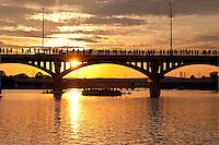 Bats evening flight from the Congress Bridge is a sight to behold