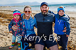 Enjoying a lovely afternoon on the sand in Ballyheigue on Thursday, l to r: Aoife, Deirdre, John and Sean Maguire.