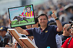 SHA TIN,HONG KONG-DECEMBER 11: The fan is cheering Maurice at Sha Tin Racecourse on December 11,2016 in Sha Tin,New Territories,Hong Kong (Photo by Kaz Ishida/Eclipse Sportswire/Getty Images)