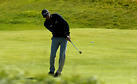 140719 | The 148th Open - Sunday Practice<br /> <br /> Jimmy Walker chips onto the 12th green during practice for the 148th Open Championship at Royal Portrush Golf Club, County Antrim, Northern Ireland. Photo by John Dickson - DICKSONDIGITAL