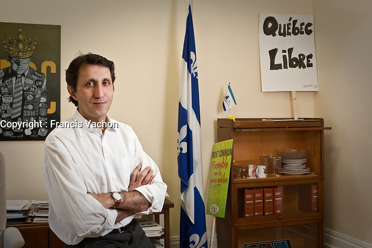 Quebec Solidaire co-leader Amir Khadir poses in is office at the National Assembly in Quebec city Decemner 1, 2009.<br /> <br /> PHOTO :  Francis Vachon - Agence Quebec Presse