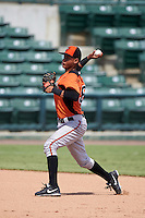 Baltimore Orioles Irving Ortega (56) during an instructional league game against the Tampa Bay Rays on September 25, 2015 at Ed Smith Stadium in Sarasota, Florida.  (Mike Janes/Four Seam Images)