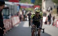 Biggest animator of the race Tsgabu Grmay  (ETH/Mitchelton-Scott) finishing stage 6<br /> <br /> Stage 6: Mora de Rubielos to Ares del Maestrat (199km)<br /> La Vuelta 2019<br /> <br /> ©kramon