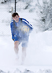 St Johnstone Training…<br />Jamie McCart pictured during a very cold a snowy training session ahead of Sundays game against Celtic.<br />Picture by Graeme Hart.<br />Copyright Perthshire Picture Agency<br />Tel: 01738 623350  Mobile: 07990 594431