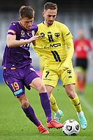 30th May 2021; Auckland, New Zealand;  Callum Timmins (L) and Reno Piscopo.<br /> Wellington Phoenix versus Perth Glory, A-League football at Eden Park.