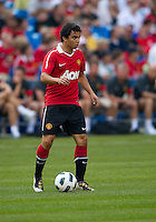 July 16, 2010 Fabio Da Silva No. 20 during an international friendly between Manchester United and Celtic FC at the Rogers Centre in Toronto.