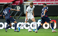 ZAPOPAN, MEXICO - MARCH 21: Tanner Tessmann #11of the United States moves with the ball during a game between Dominican Republic and USMNT U-23 at Estadio Akron on March 21, 2021 in Zapopan, Mexico.