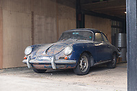 BNPS.co.uk (01202 558833)<br /> Pic: SilverstoneAuctions/BNPS<br /> <br /> Pictured: The 1964 Porsche 3560C.<br /> <br /> A classic Porsche has emerged for sale after it was discovered in storage exactly as it was left over four decades ago.<br /> <br /> The 1964 3560C coup with its original blue paintwork is remarkably rare as most of its kind were scrapped after they were superseded by the more popular 911 model.<br /> <br /> Found by the seller in a barn where it languished since it was last driven in 1977, the car is a time capsule full of historic items left untouched for decades.