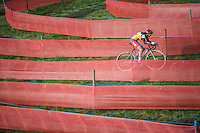 Belgian CX Champion Sanne Cant (BEL/Enertherm-Beobank) in the race's new course feature: The Labyrinth<br /> <br /> Elite Women's Race<br /> Soudal Jaarmarktcross Niel 2016