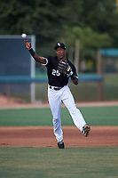 AZL White Sox third baseman DJ Gladney (25) throws to first base during an Arizona League game against the AZL Padres 2 on June 29, 2019 at Camelback Ranch in Glendale, Arizona. The AZL Padres 2 defeated the AZL White Sox 7-3. (Zachary Lucy/Four Seam Images)