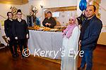 The official opening of Dubai restaurant in Ashe St on Saturday. L to r: Adraina Zeilinska, Ella Foley, Salaah Baleed, Laura Leanta and Sabry Gharib