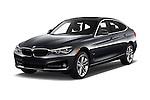 2018 BMW 3-Series 330i-Gran-Turismo 5 Door Hatchback Angular Front stock photos of front three quarter view