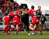 Photo: Richard Lane/Richard Lane Photography. RC Toulon v Wasps.  European Rugby Champions Cup Quarter Final. 05/04/2015. Wasps' Ashley Johnson attacks.